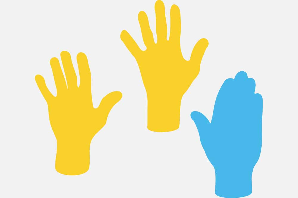 Mit den Händen abstimmen